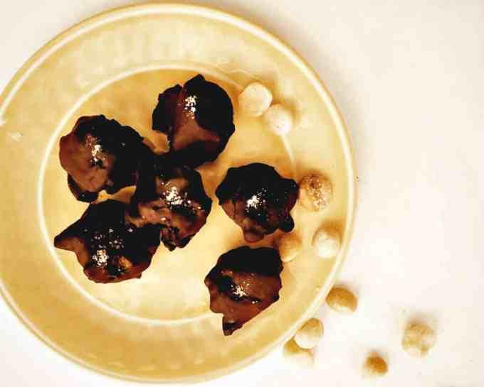 Salted Caramel Macadamia Nut Clusters