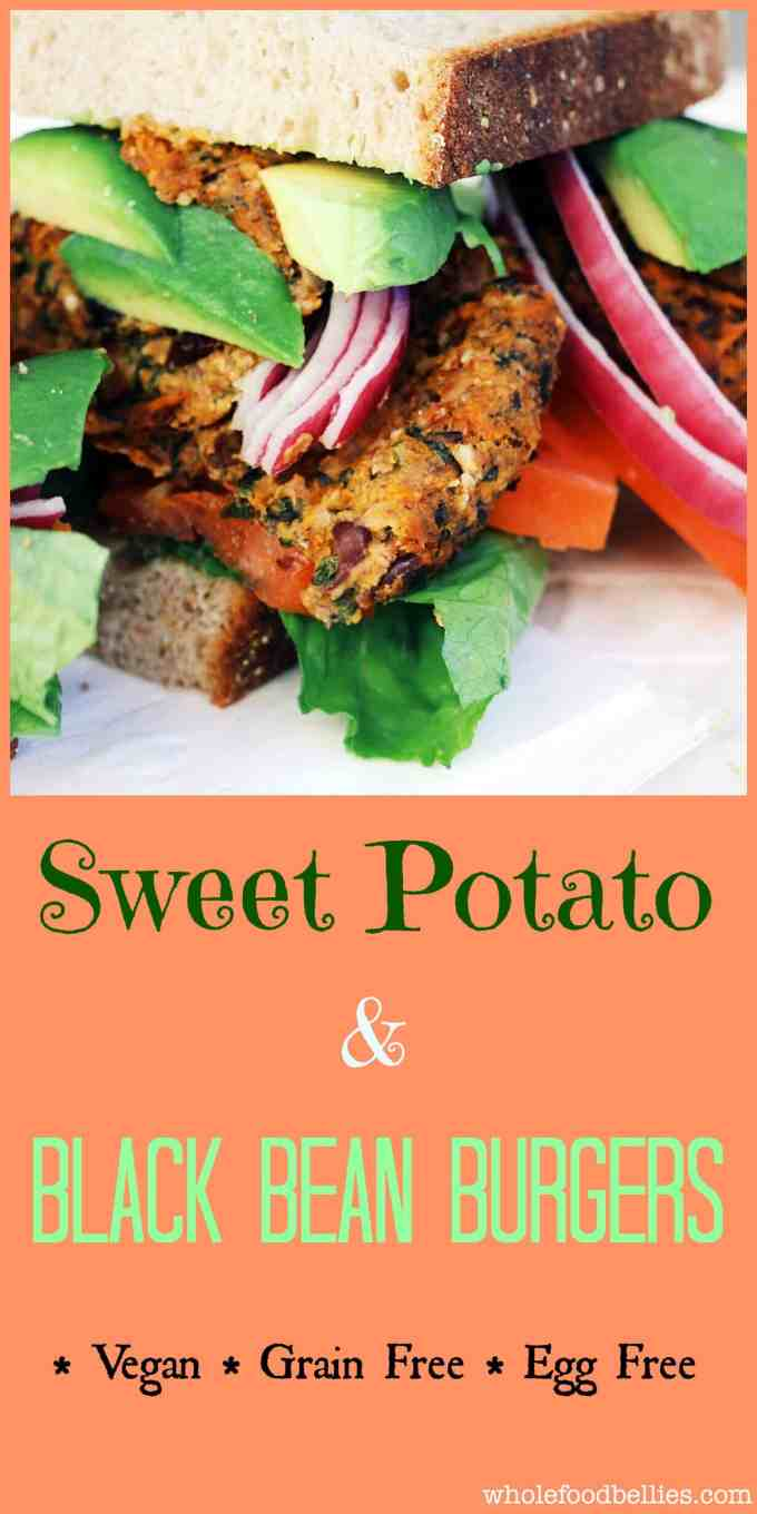 Sweet Potato and Black Bean Burgers are a great veggie burger option that are both filling and delicious. A Fantastic way to sneak vegetables into the kids.