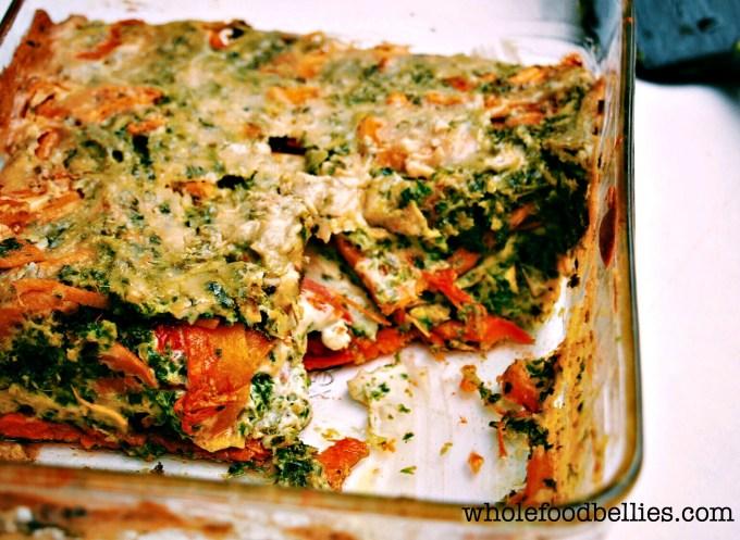 Roasted Vegetable Lasagne @wholefoodbellies.com