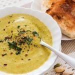 Cream of Broccoli and Pistachio Soup