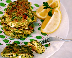 Brocoli and Feta Fritters @wholefoodbellies.com