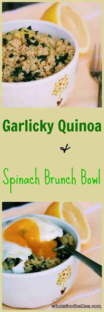 Garlicky Quinoa Brunch Bowl