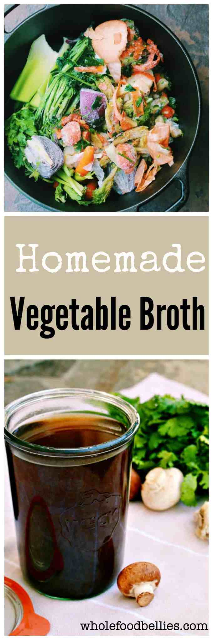 Good for your wallet, good for the planet and good for you! Homemade vegetable stock made from your veggie scraps accumulated in the freezer throughout the week