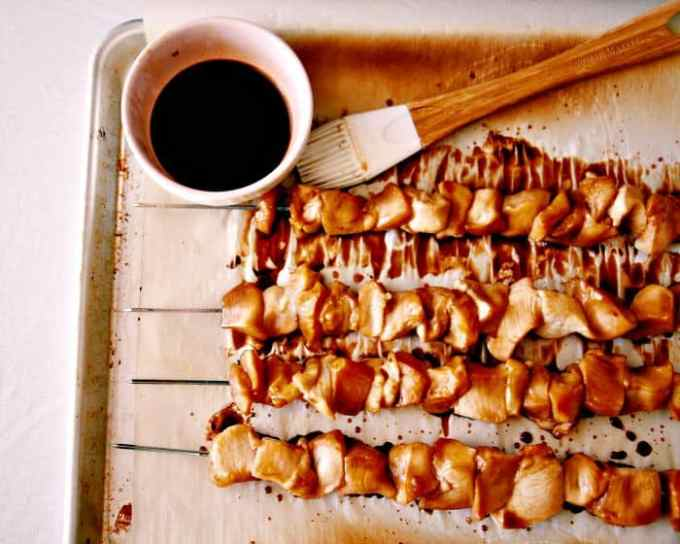 4 Ingredient Asian Chicken Skewers @wholefoodbellies.com