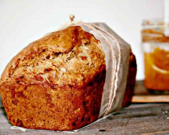 Banana and Peach Butter Bread