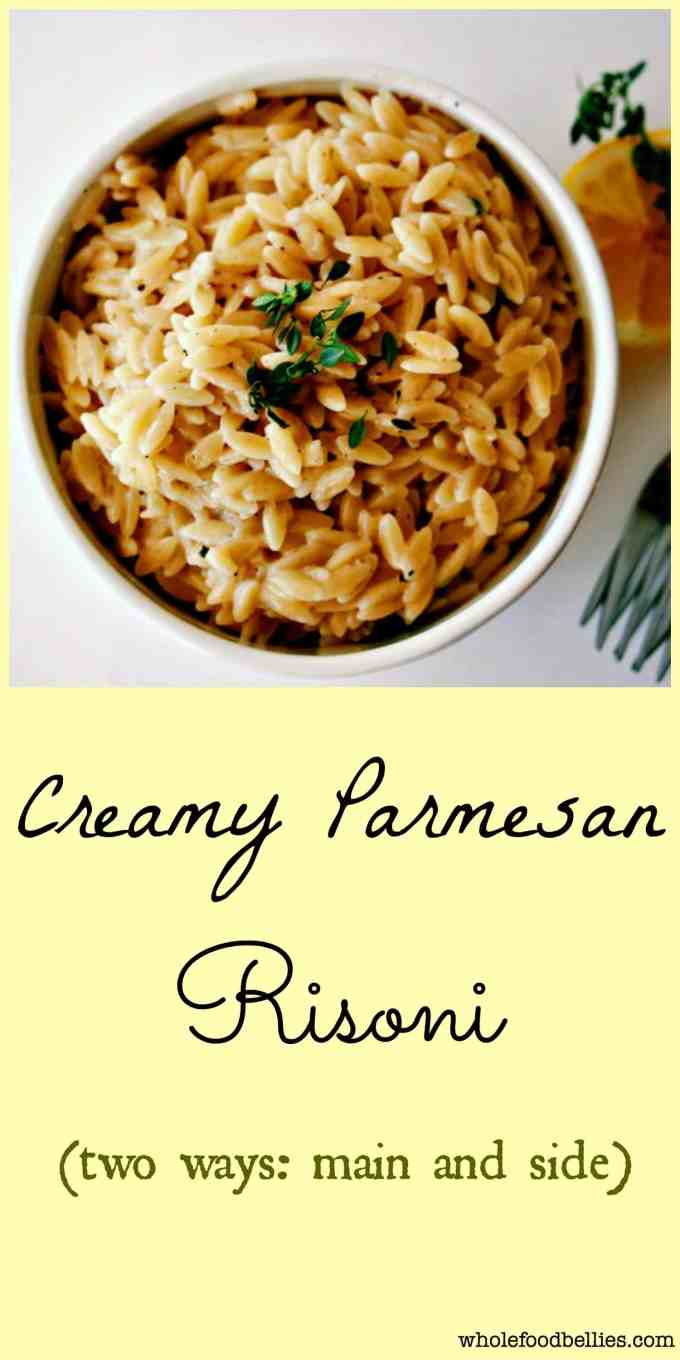 Creamy Parmesan and Vegetable Orzo. Serve loaded with veggies as a main dish, or leave out the veggies and serve as a side to something more substantial