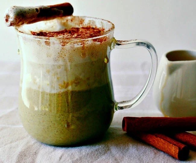 Green Tea Chai Spiced Latte