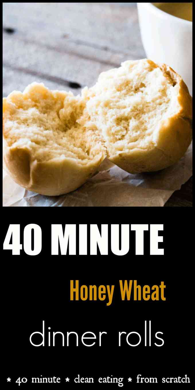 Quick and easy. 40 minutes from start to finish, these Honey Wheat Dinner Rolls are perfect for a quick side fresh from the oven.