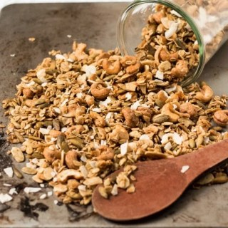 Super Crunchy Cardamom and Cashew Granola