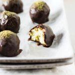Dark Chocolate, Matcha Coconut Truffles