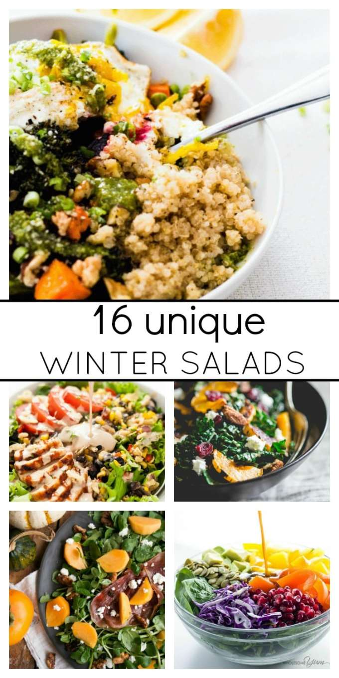 Include some delicious unique salads in your meal planning this winter. Think roasted vegetables, citrus and big bold dressings.