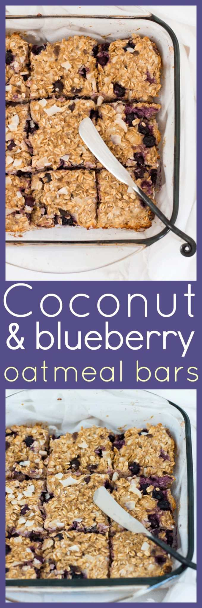 Healthy, filling and delicious, these Coconut and Blueberry Oatmeal Bars tick all the boxes for a great grab-n-go breakfast, a lunch box snack or an afternoon pick me up.