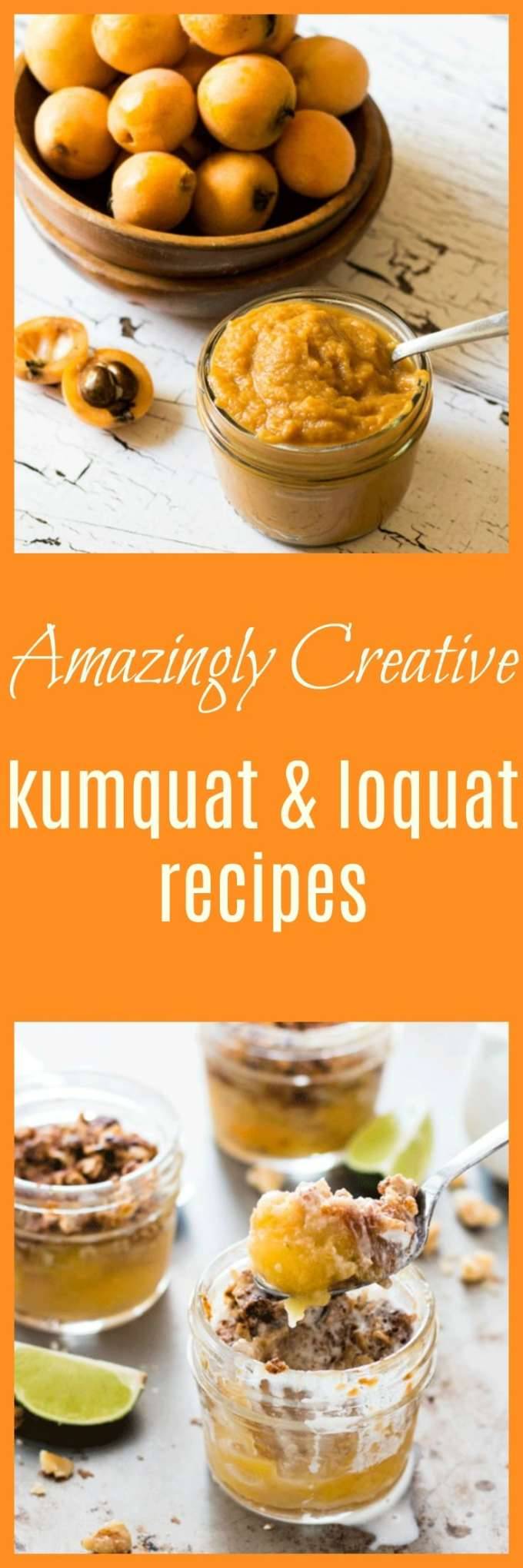 A collection of amazingly creative kumquat and loquat recipes to help you get the most out of this delicious seasonal fruit. All clean eating real food recipes.