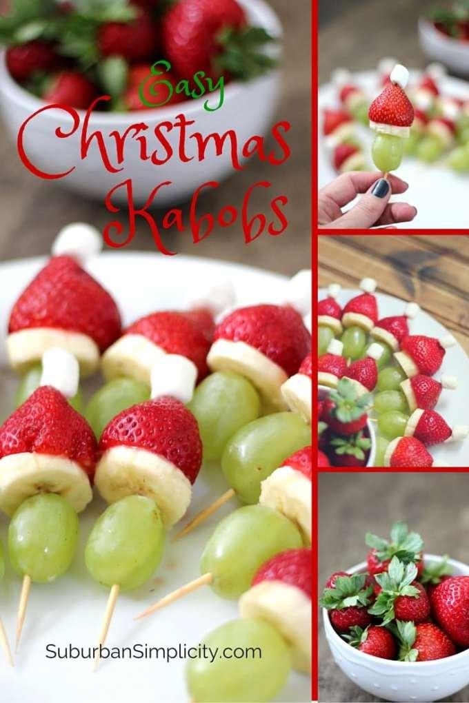 fruit christmas kabob