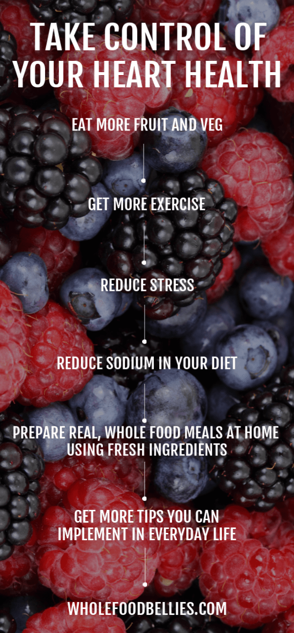 Take control of your health and implement these easy heart health tips today. Diet, exercise and lifestyle choices can all have an effect on our overall health, let's make it a positive one!  #hearthealthrecipes #hearthealthmeals #hearthealth