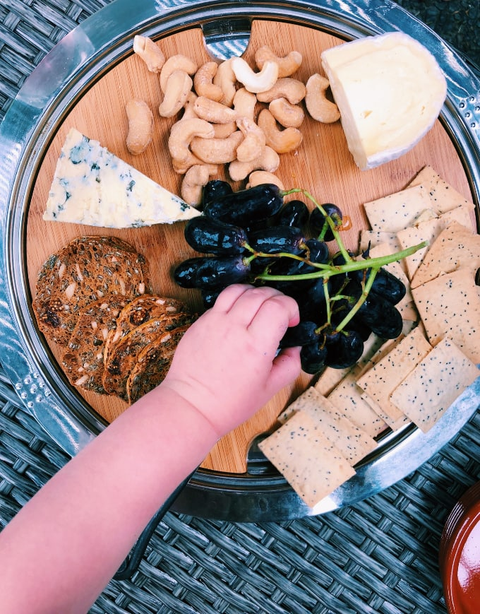 Foodie travel with kids: cheese plate in Tasmania