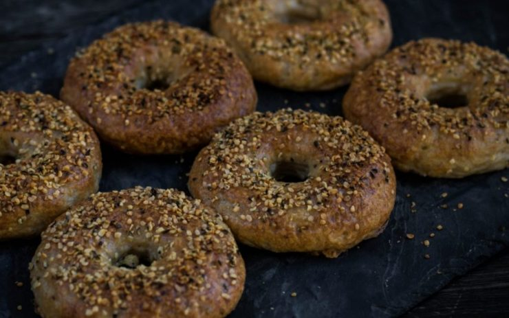 Authentic baked bagels