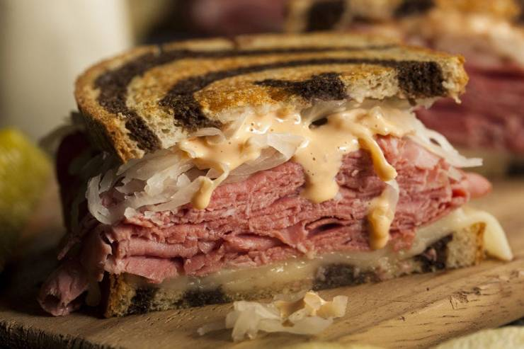 Toasted rye bread is the main ingredient in an excellent Reuben sandwich