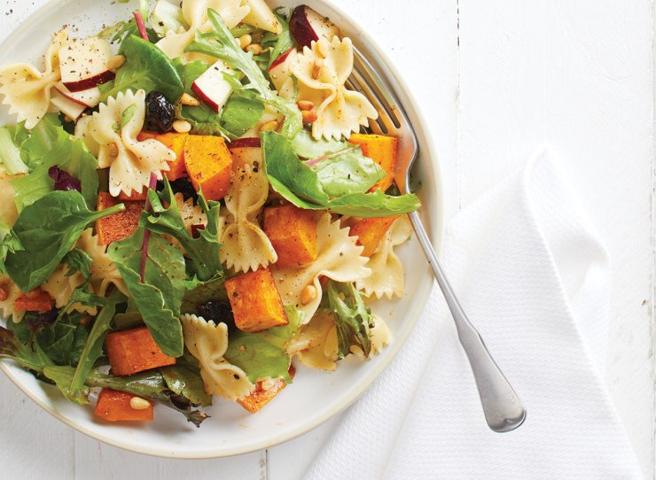 Pasta salad with butternut squash