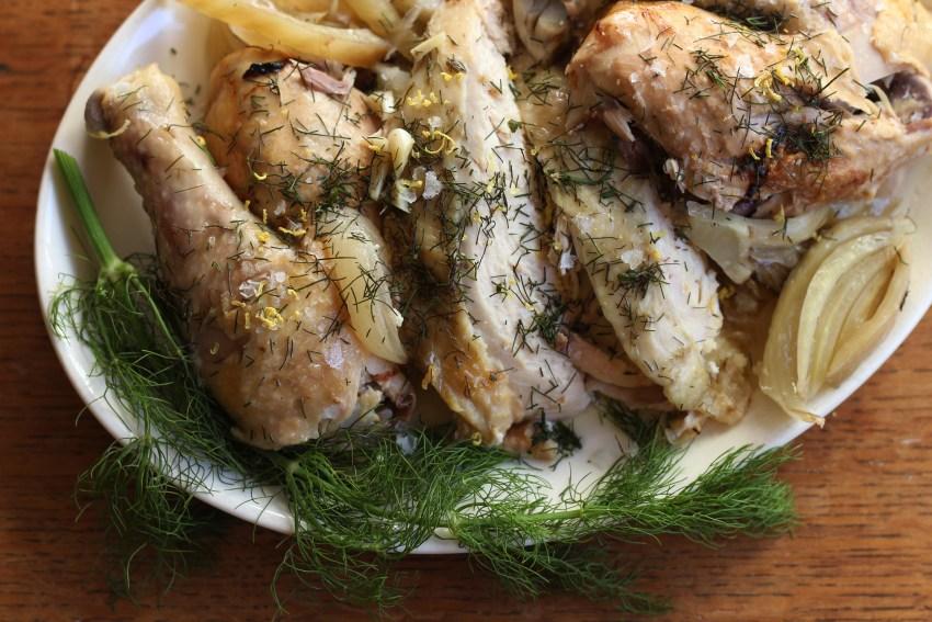 Slow Cooker Fennel & Lemon Chicken