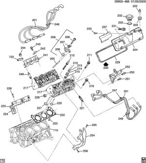 ENGINE ASM34L V6 PART 2 CYLINDER HEAD & RELATED PARTS