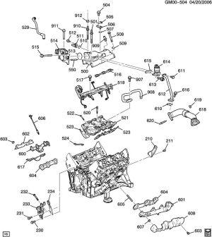 ENGINE ASM34L V6 PART 5 MANIFOLDS & RELATED PARTS