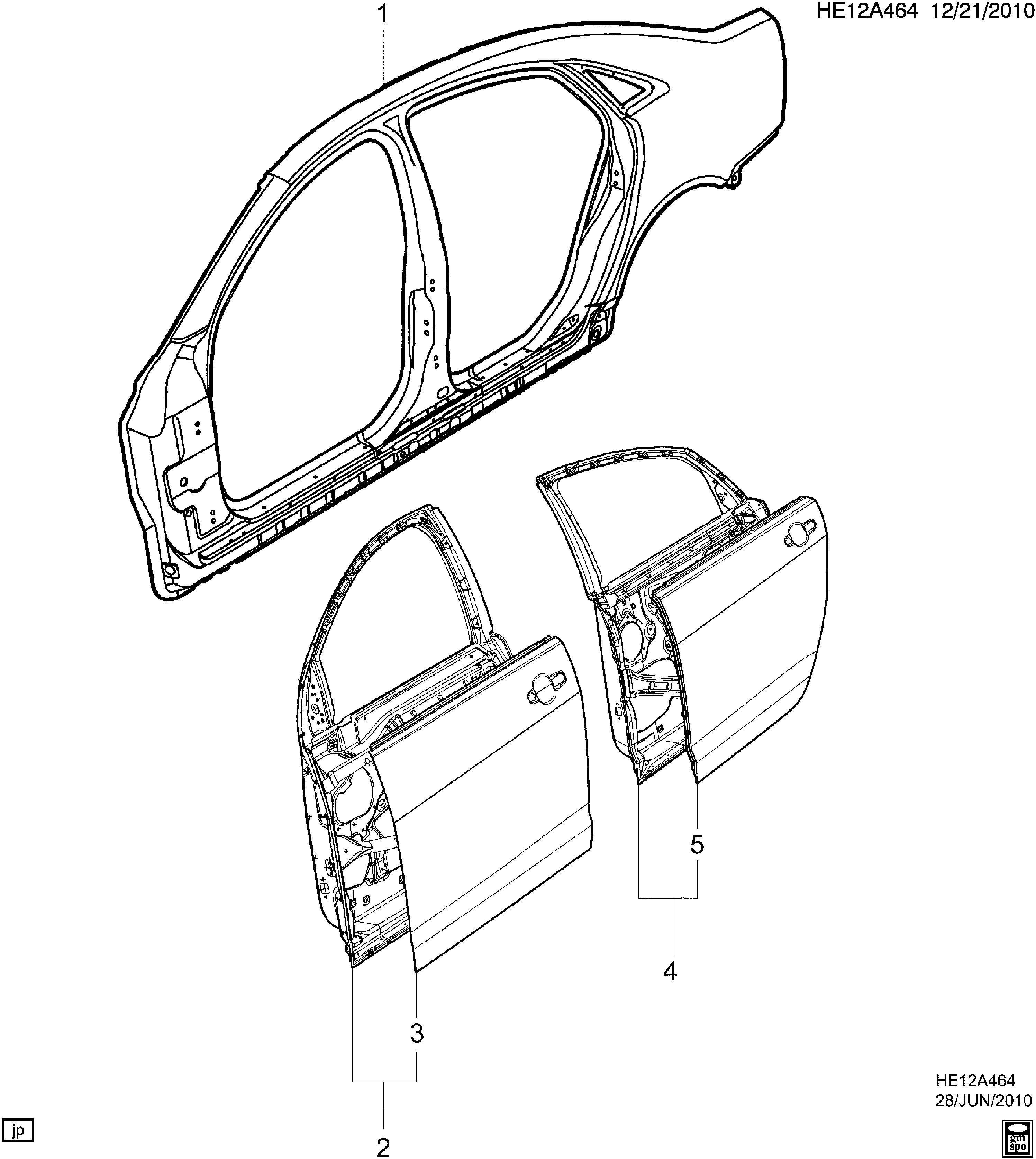 Chevrolet Caprice Sheet Metal Body Body Side Amp Doors