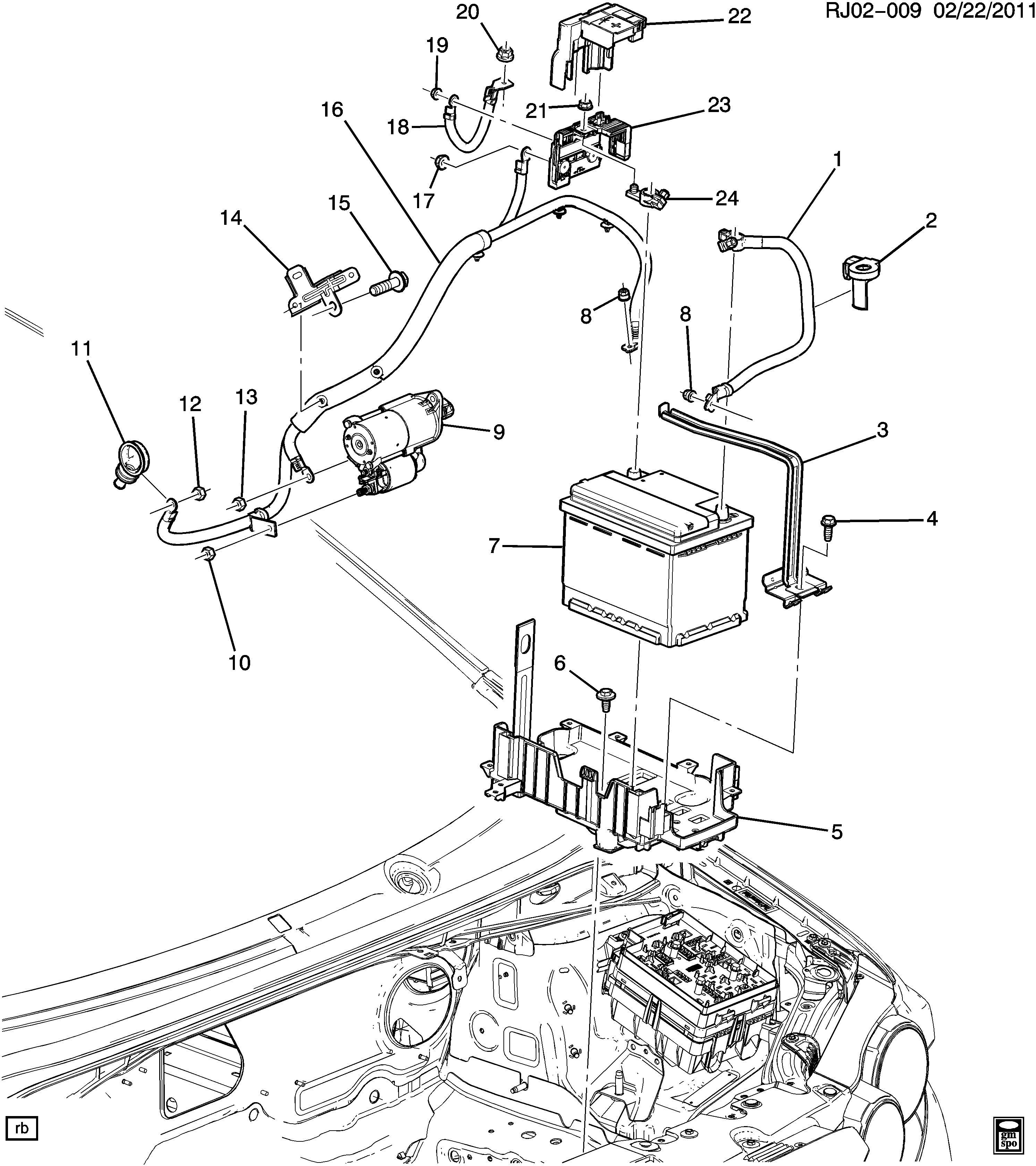Chevrolet Sonic Block Main Wiring Junction And Fuse