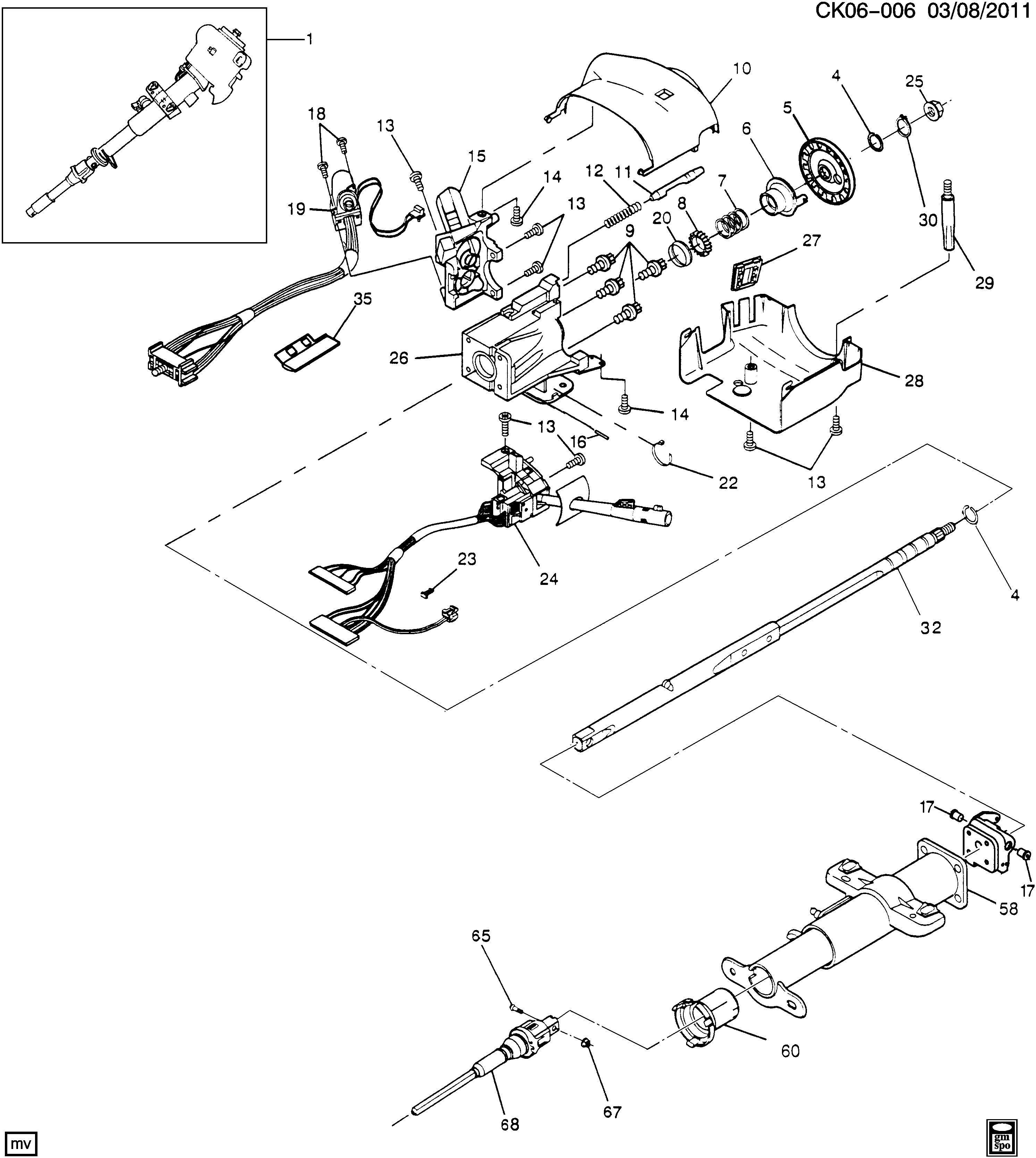 Chevrolet K Bearing Steering Column Bearing Strg