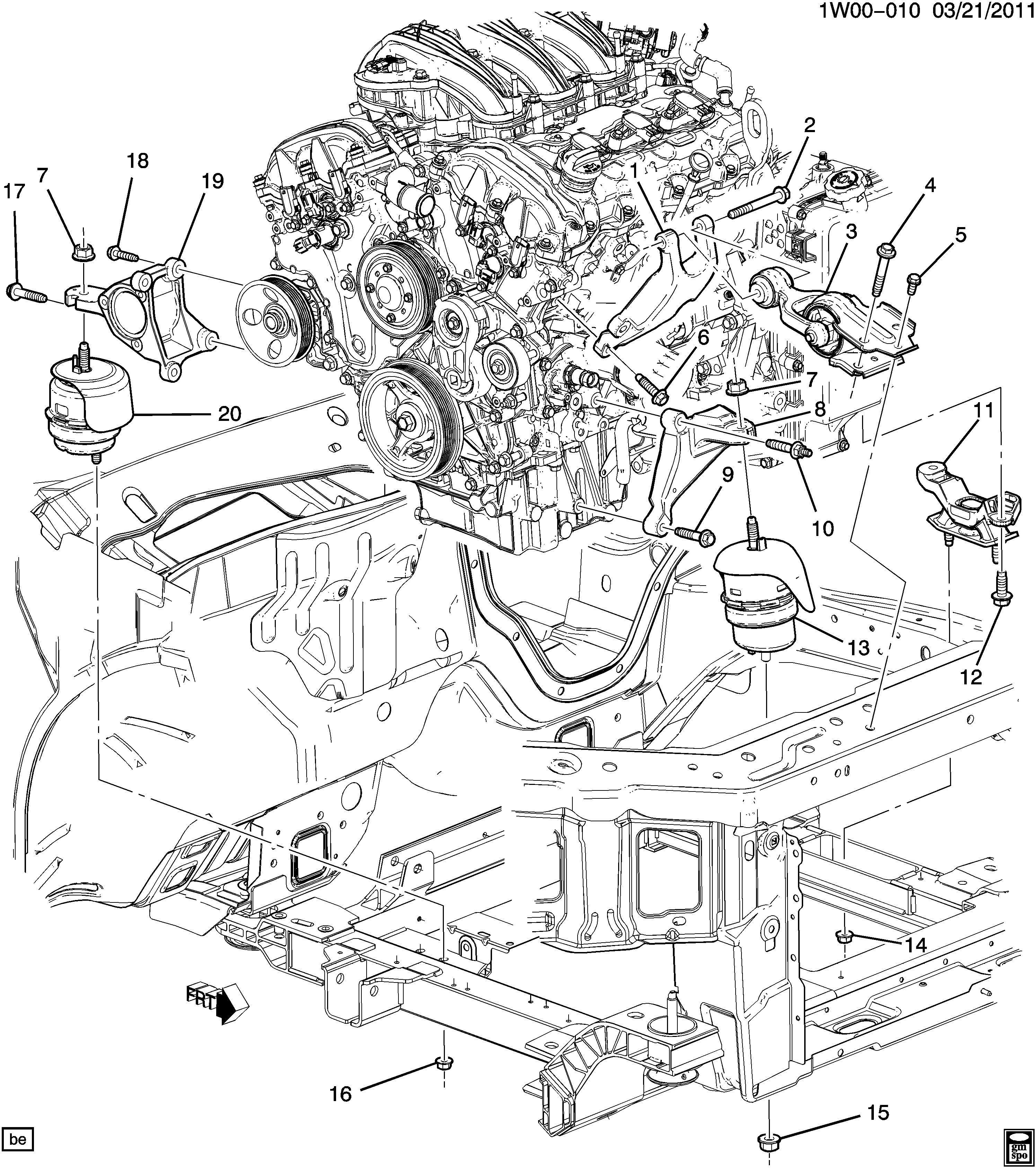 Chevrolet Impala Ltz 4dr Mount Transmission Mounting