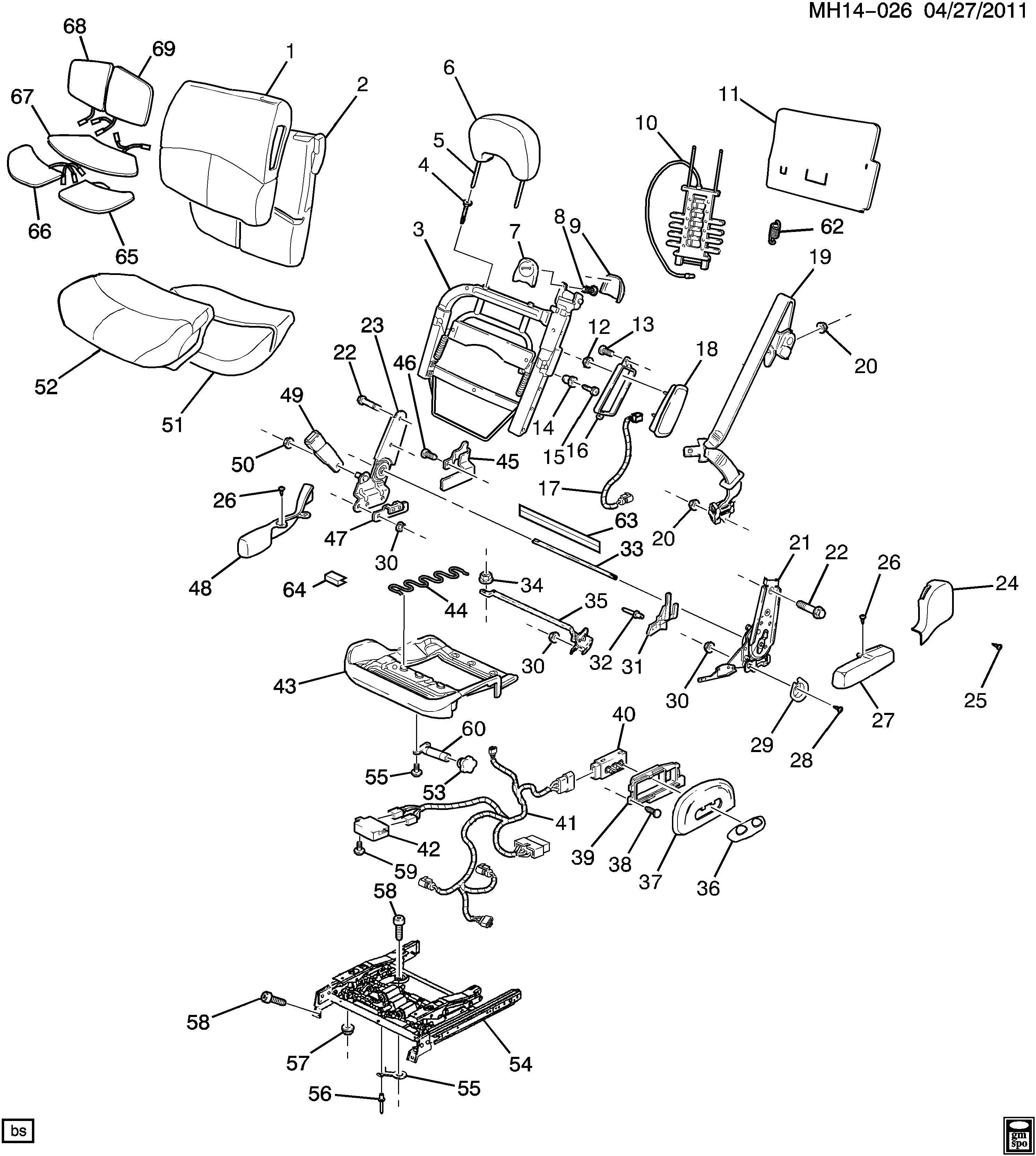 Buick Lesabre Seat Lumbar Support Cushion