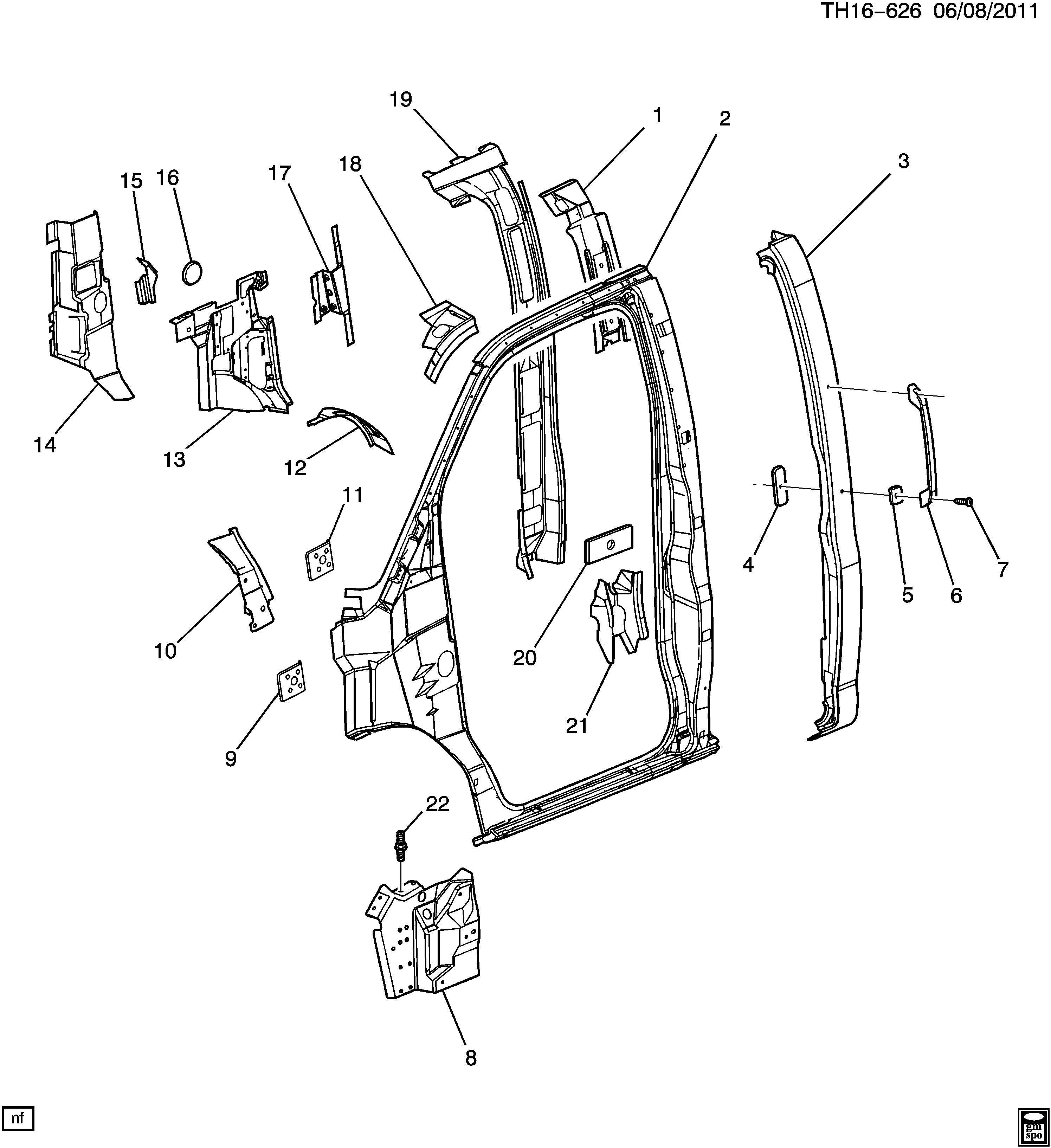 Gmc C Panel Fuel Door Amp Body Side Panel Body