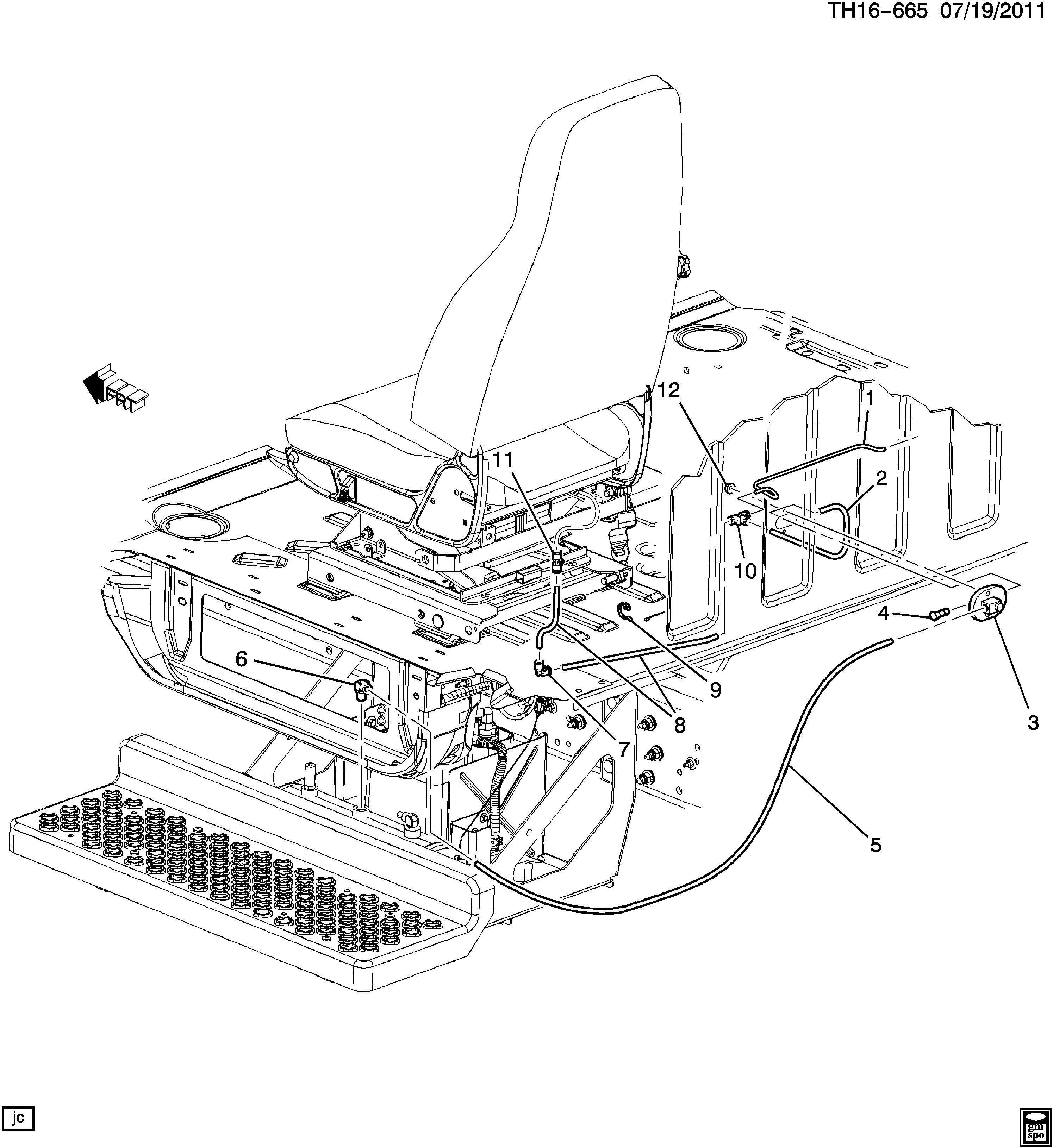 Gmc C C6c0 7c0 Seat Hardware Air Seat Air Supply Lines