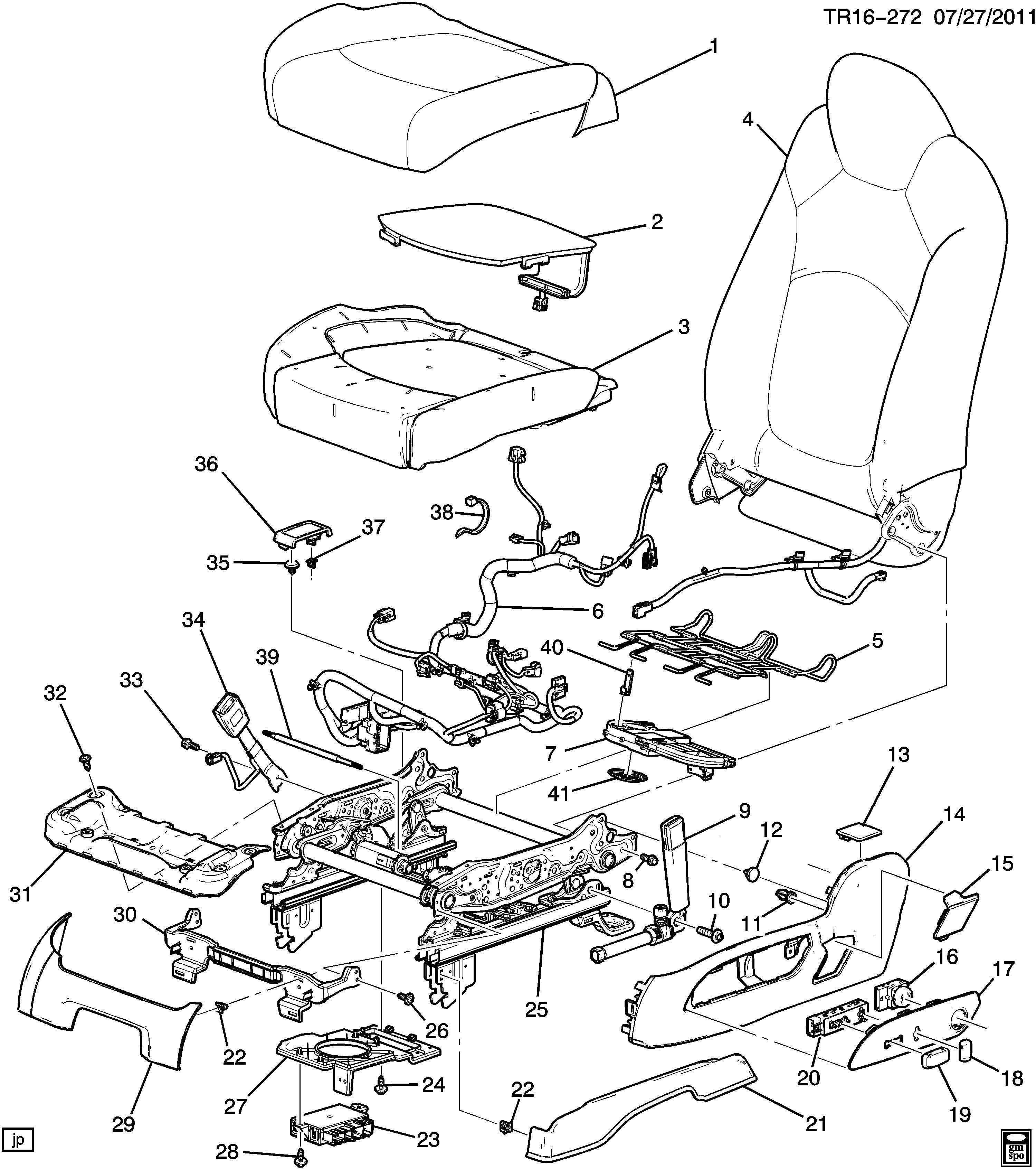 Buick Enclave Cover Seat Adjuster Recliner Ridge Reclno