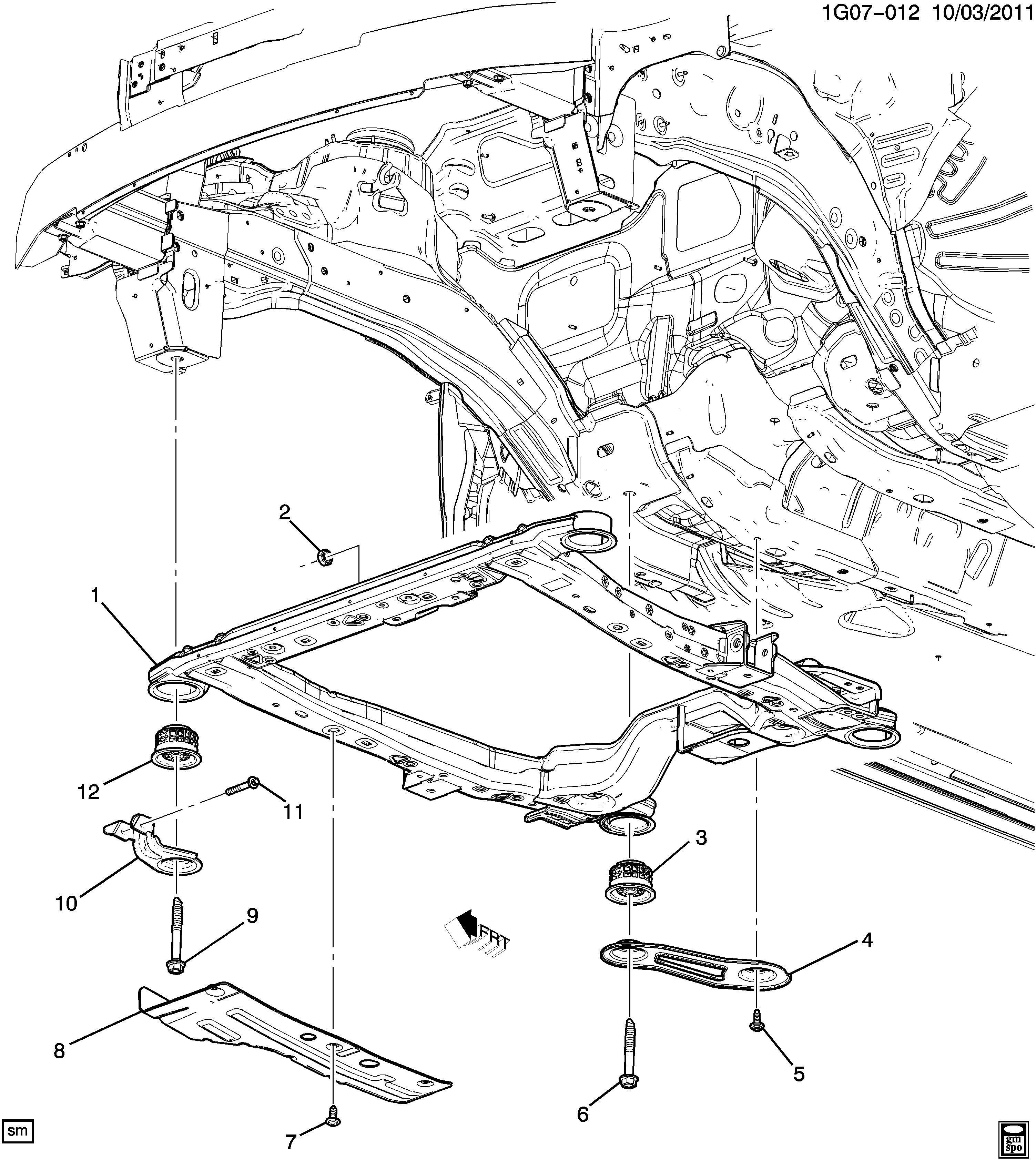 Chevrolet Malibu Frame Chassis Frame Drivetrain Amp Frt