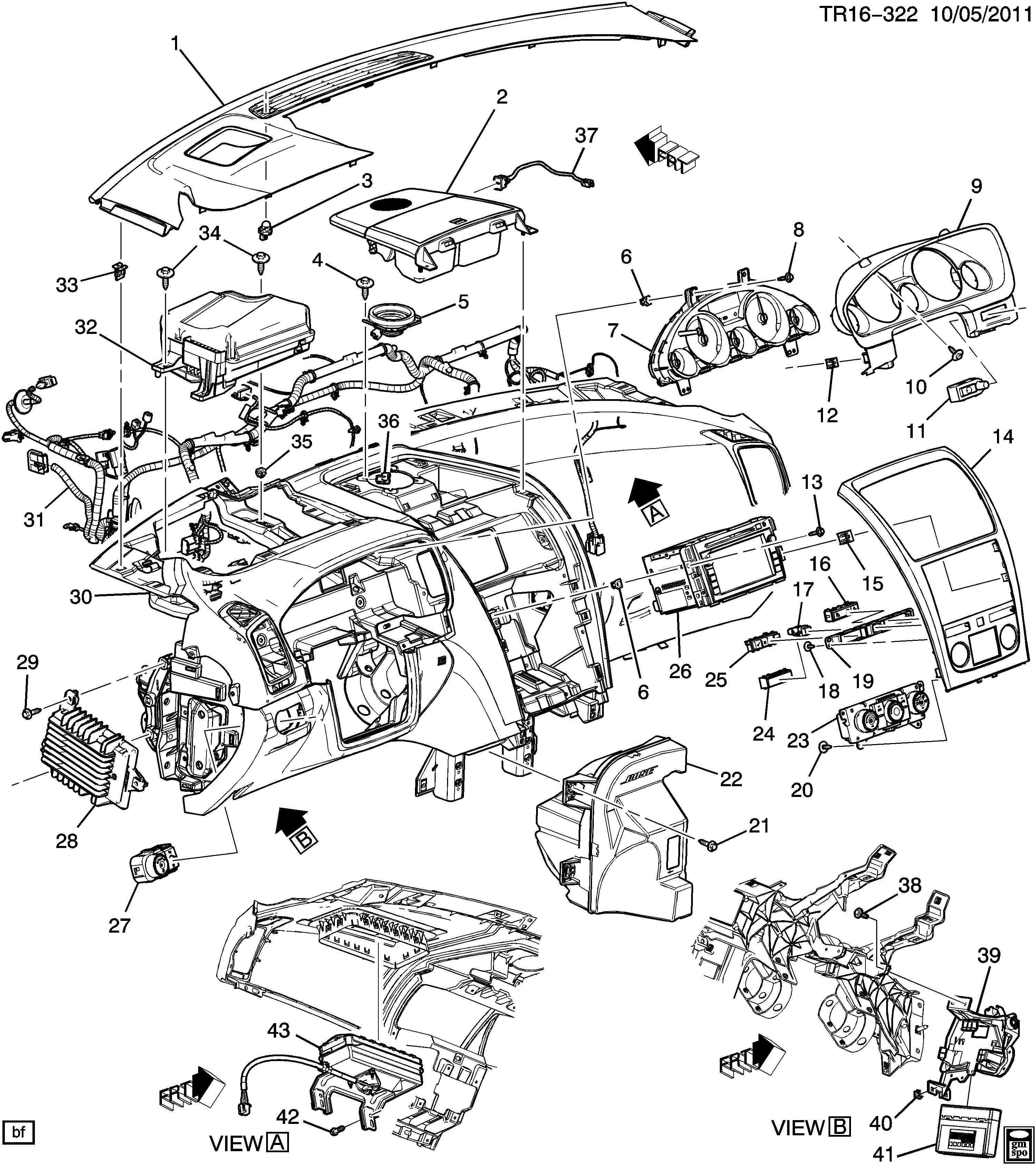 Chevrolet Traverse Amplifier Radio Receiver Amplifier