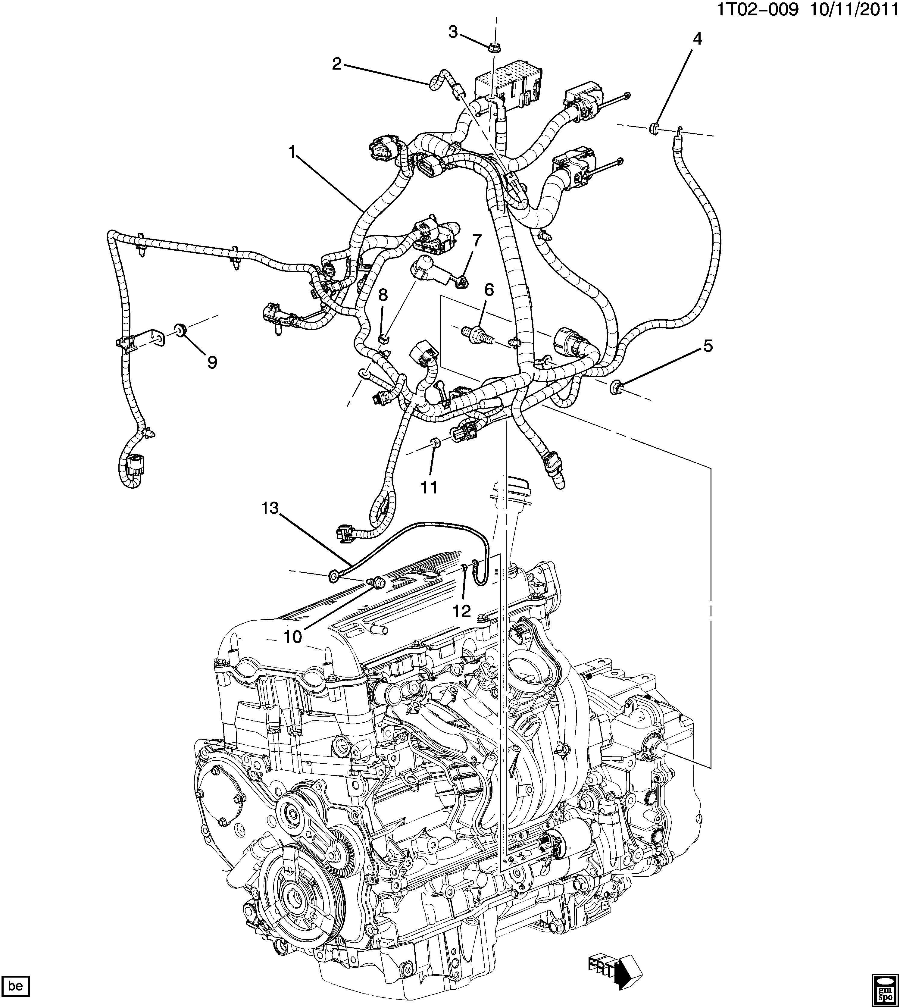 Chevrolet Hhr Harness Engine Wiring Harness Eng Wrg