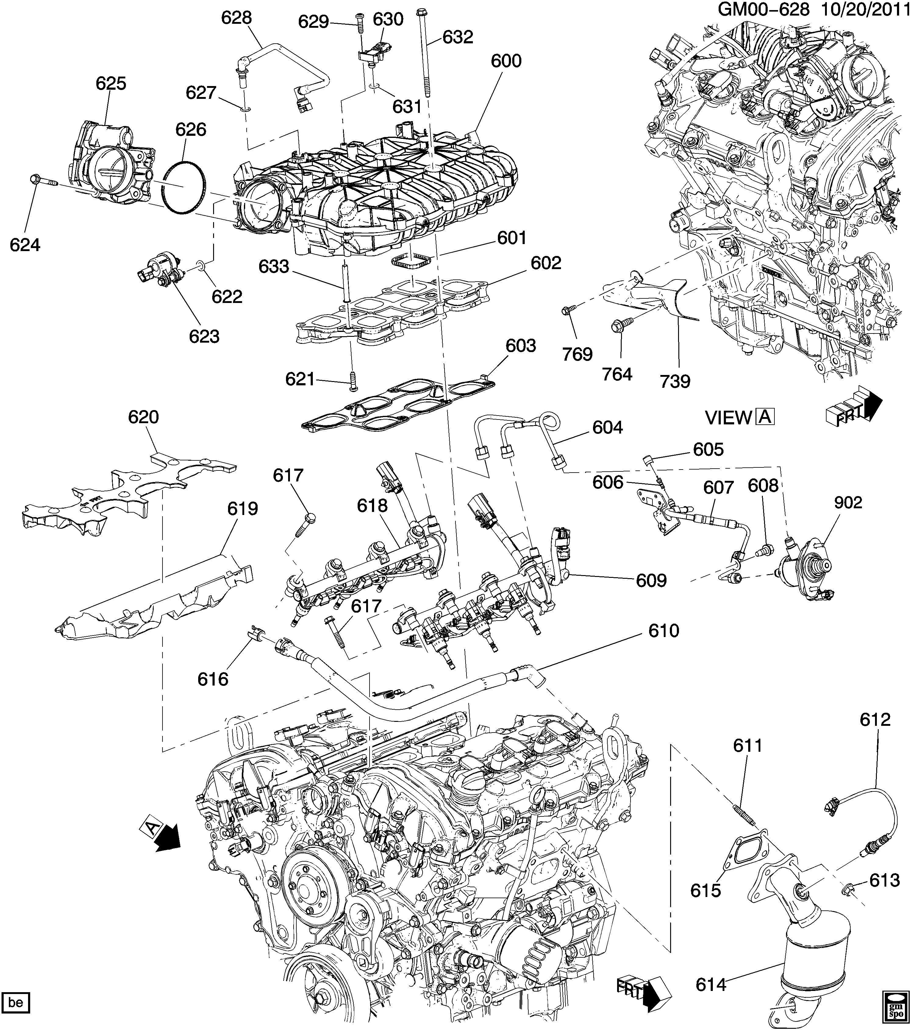 Cadillac Srx Stud Catalytic Converter Exhaust Muffler