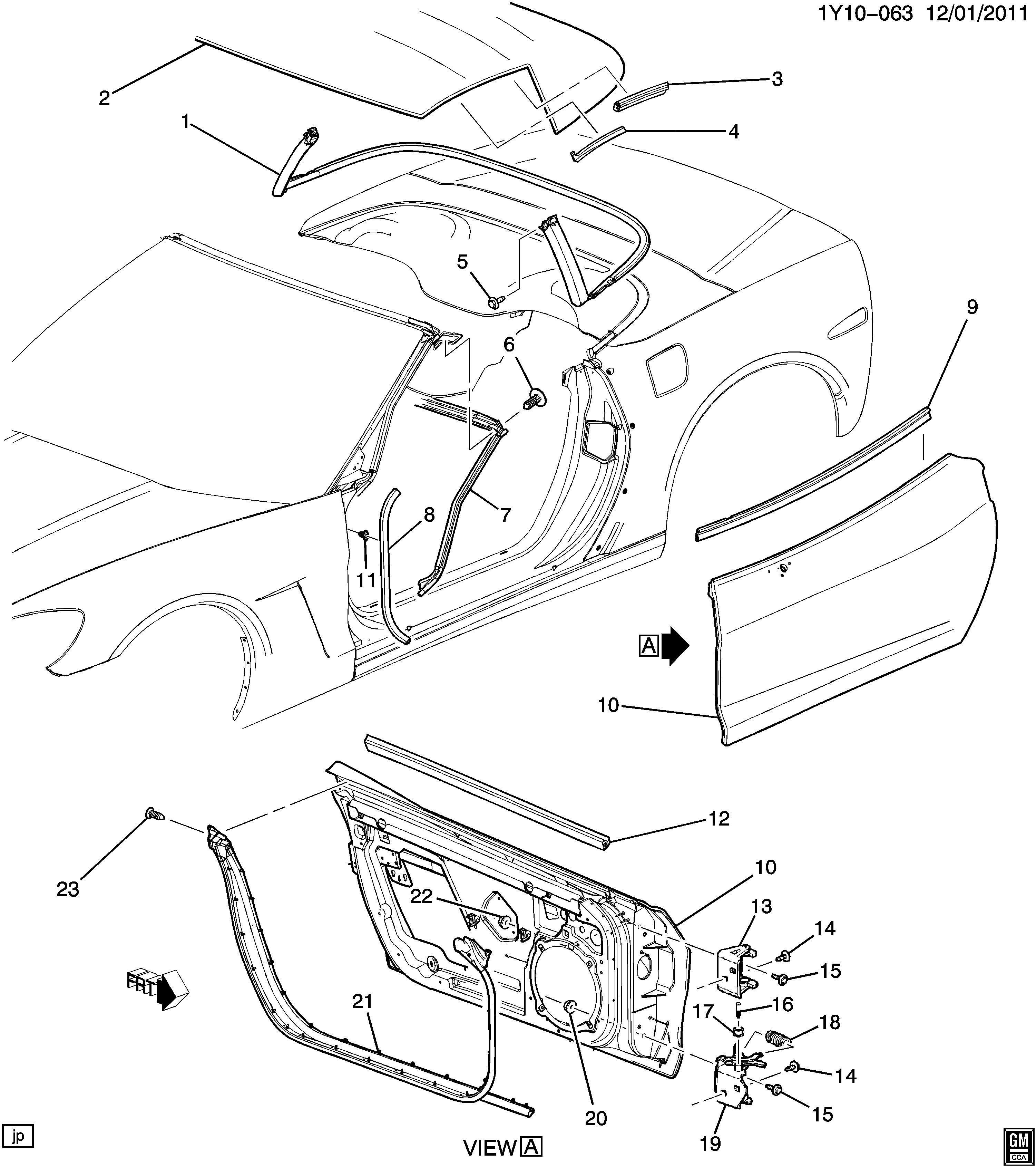 Chevrolet Corvette Weatherstrip Windshield Frame