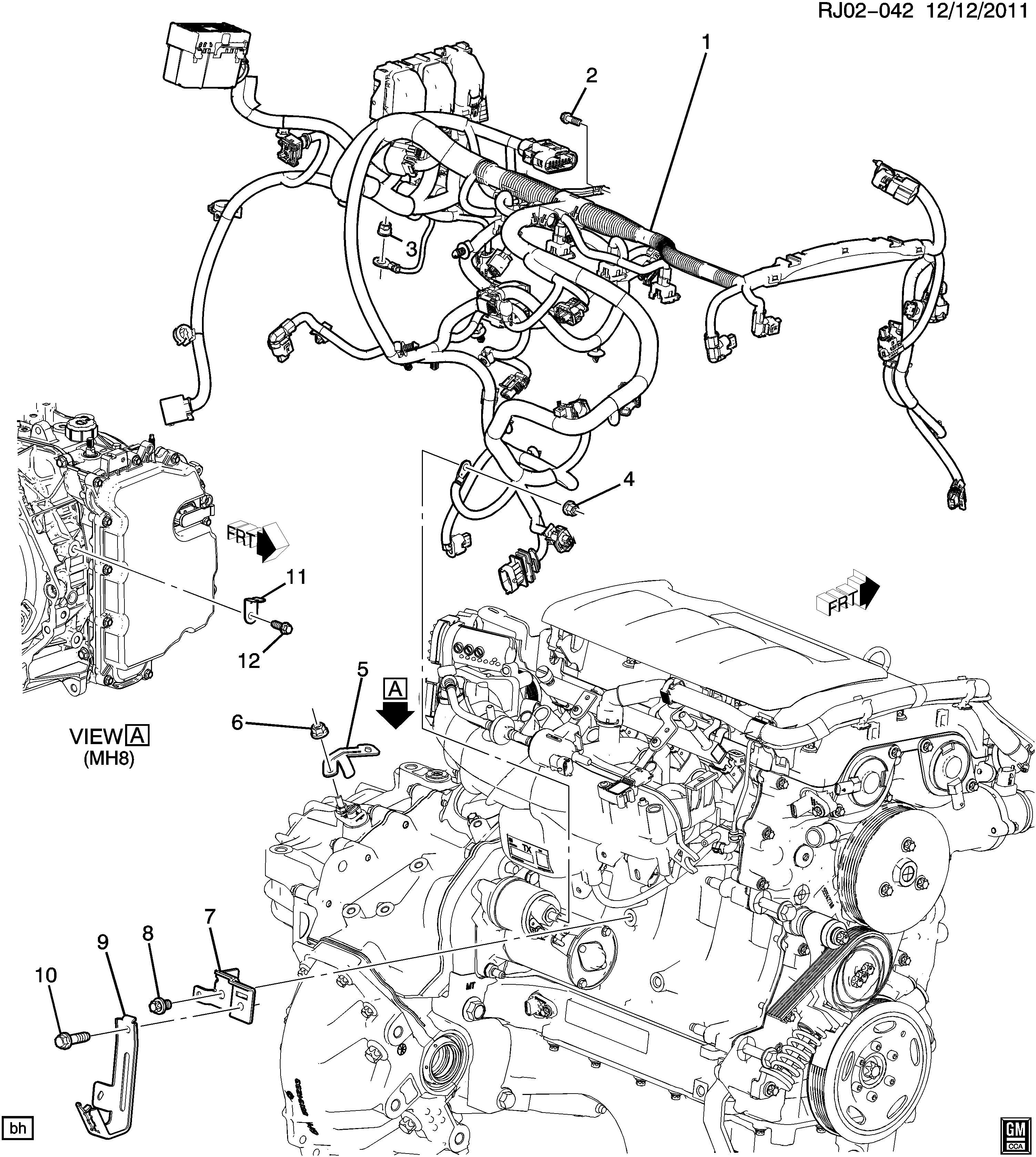 Buick Encore Bracket Battery Chassis Engine Wiring