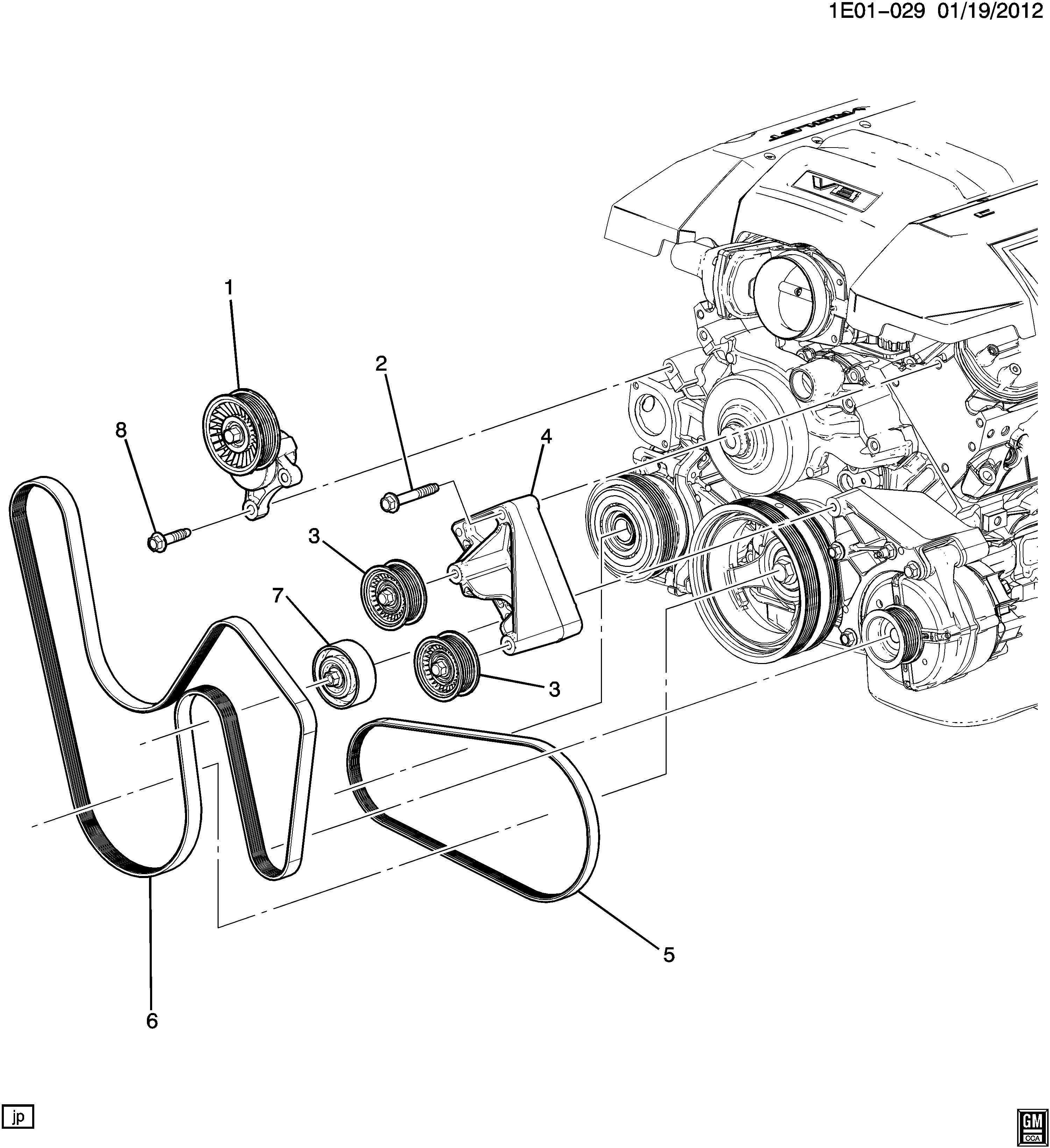 Chevrolet Camaro Ss 2ss 2dr Belt Kit Drive Belt