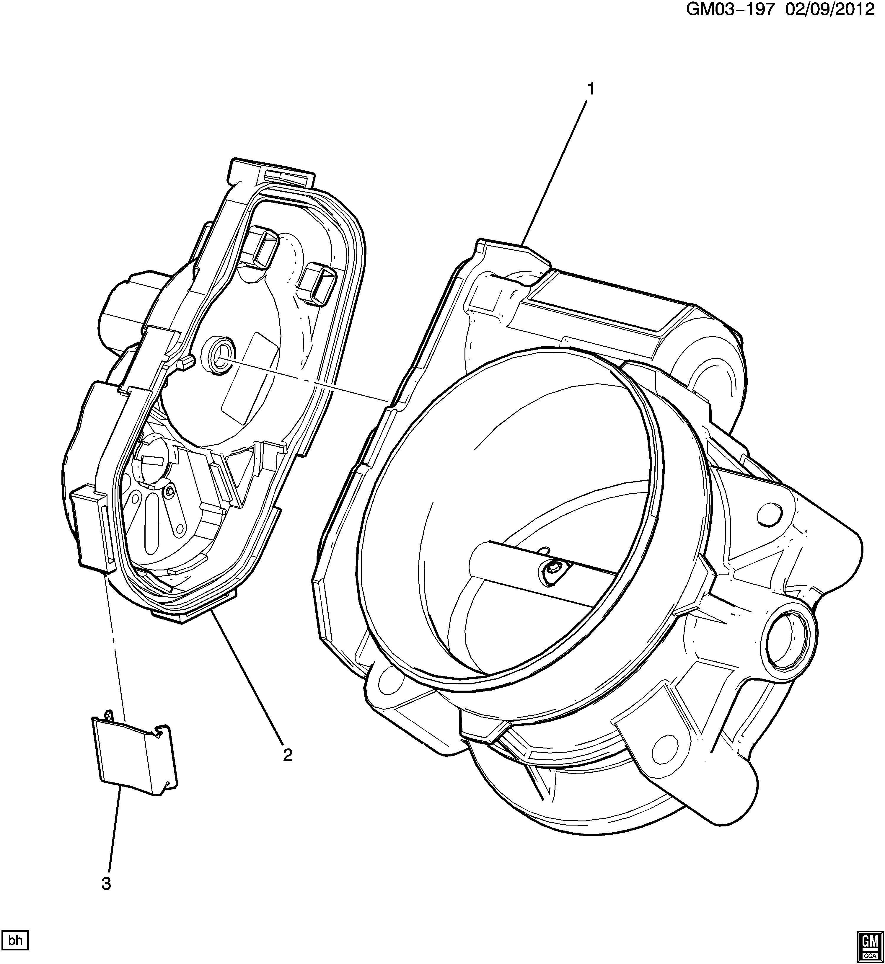 Chevrolet Silverado Body Fuel Injection Air Meter
