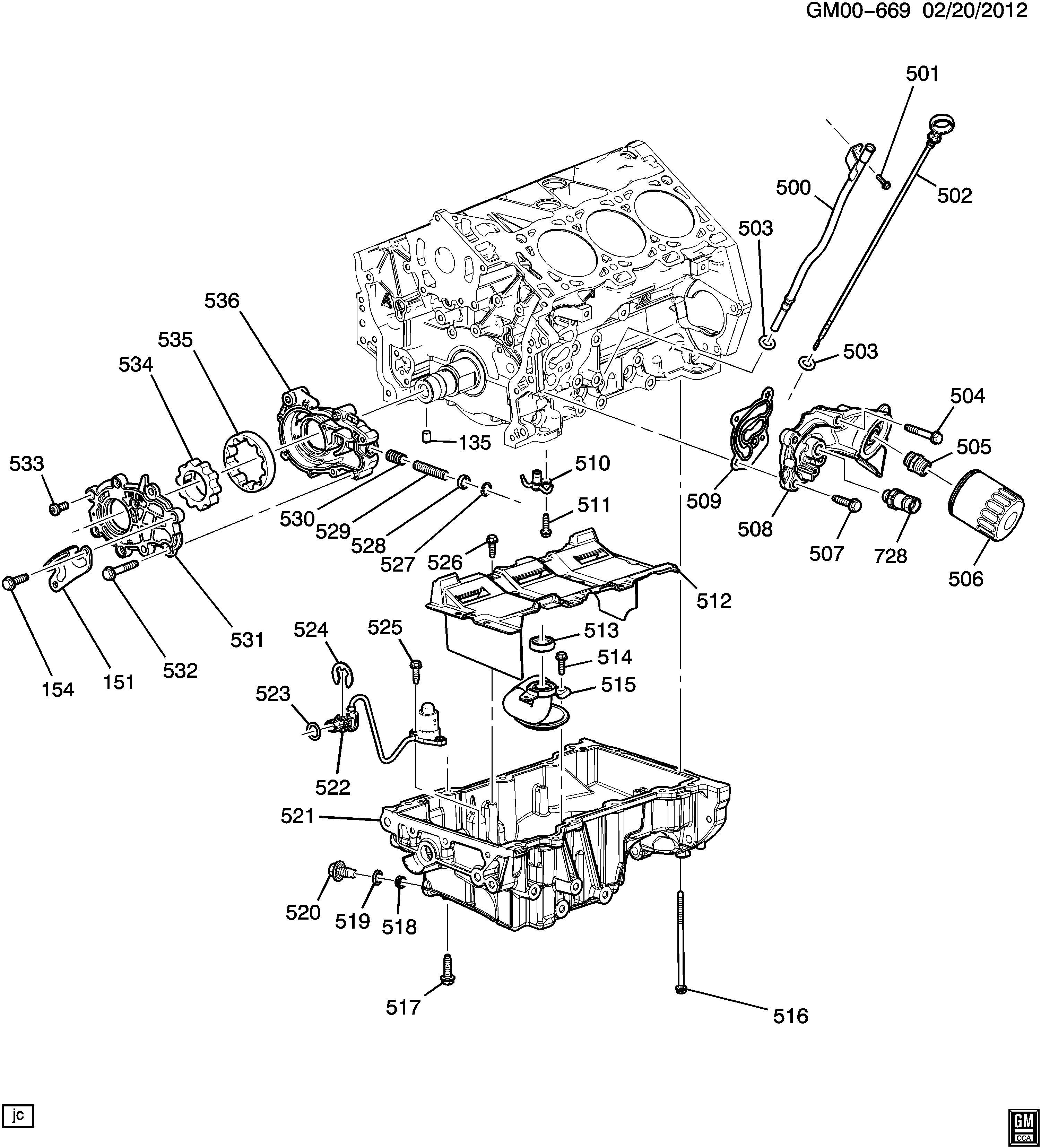 Chevrolet Traverse Engine Oil Level Sensor Switch