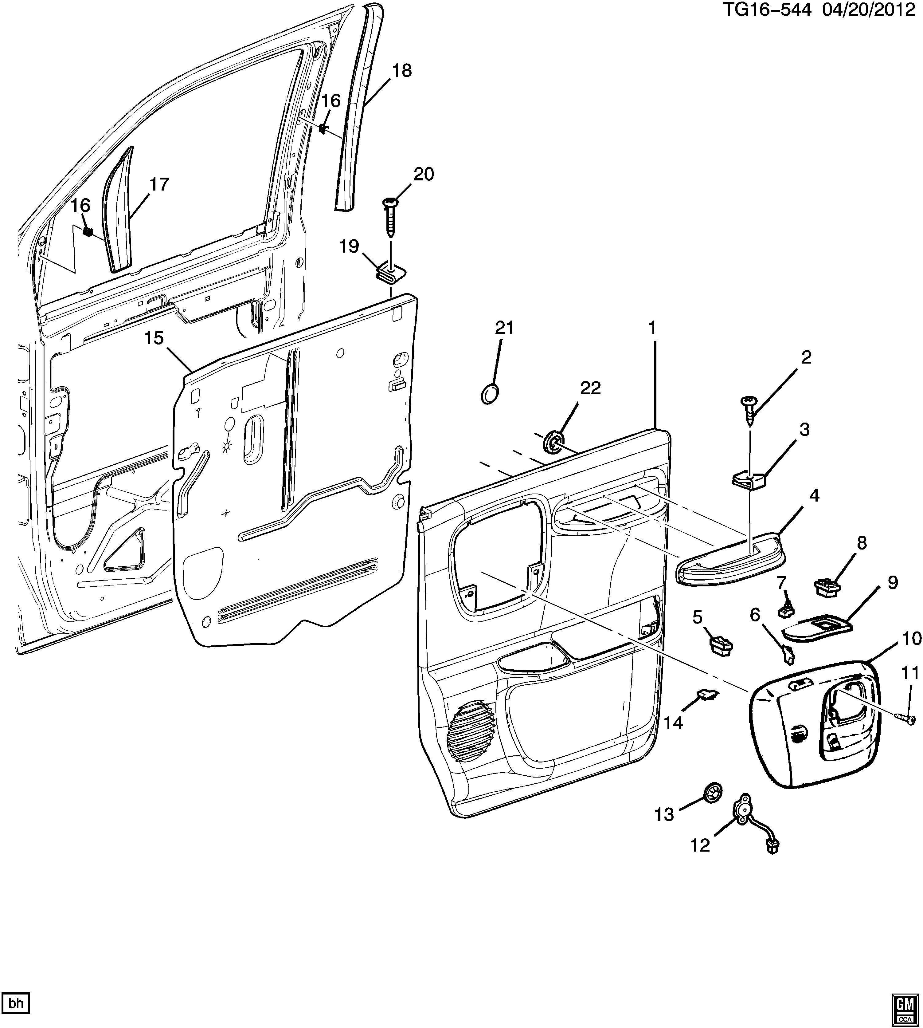 Chevrolet Express Armrest Armrest Armrest Frt S D