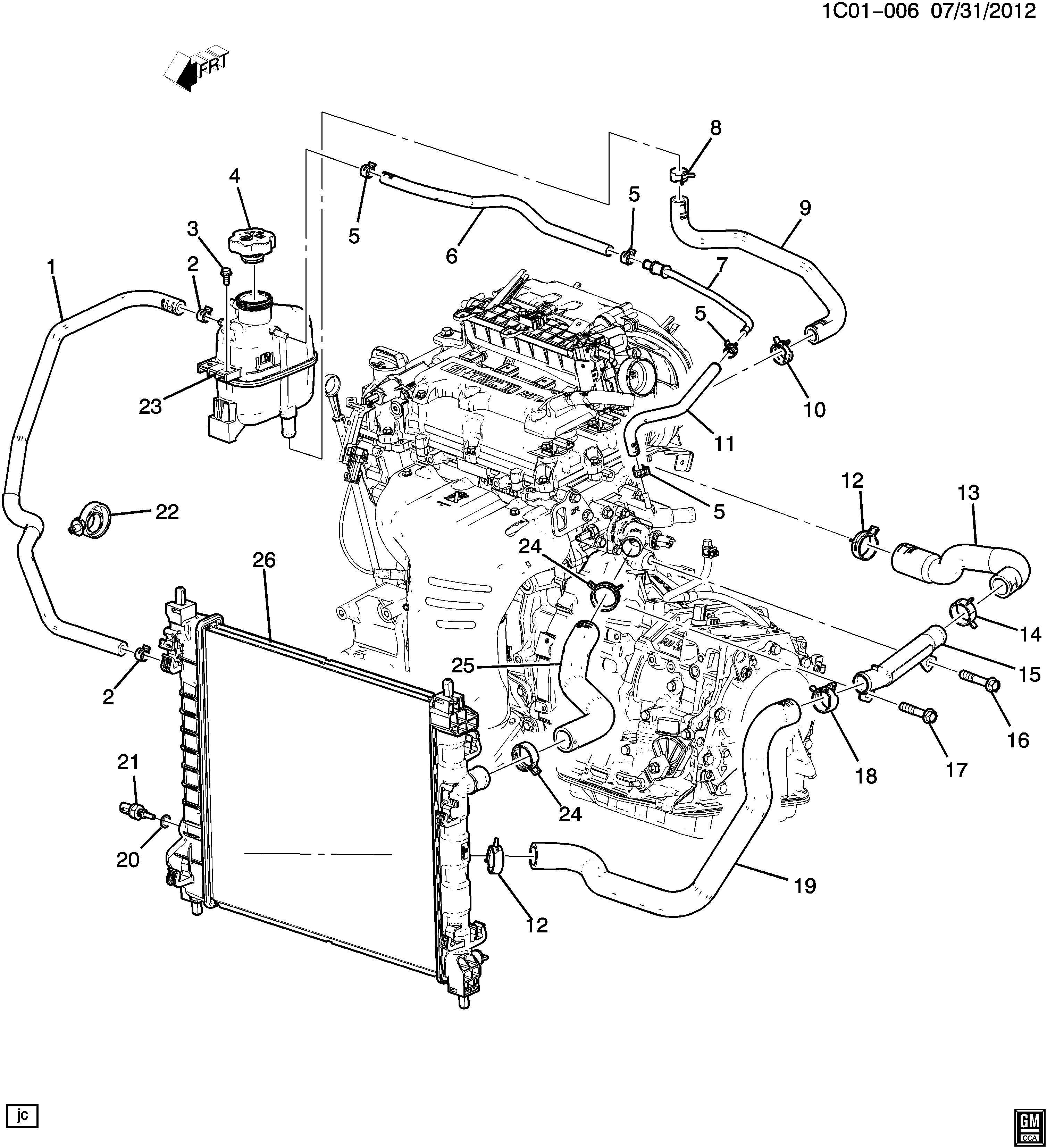 Chevrolet Spark Hoses Amp Pipes Radiator