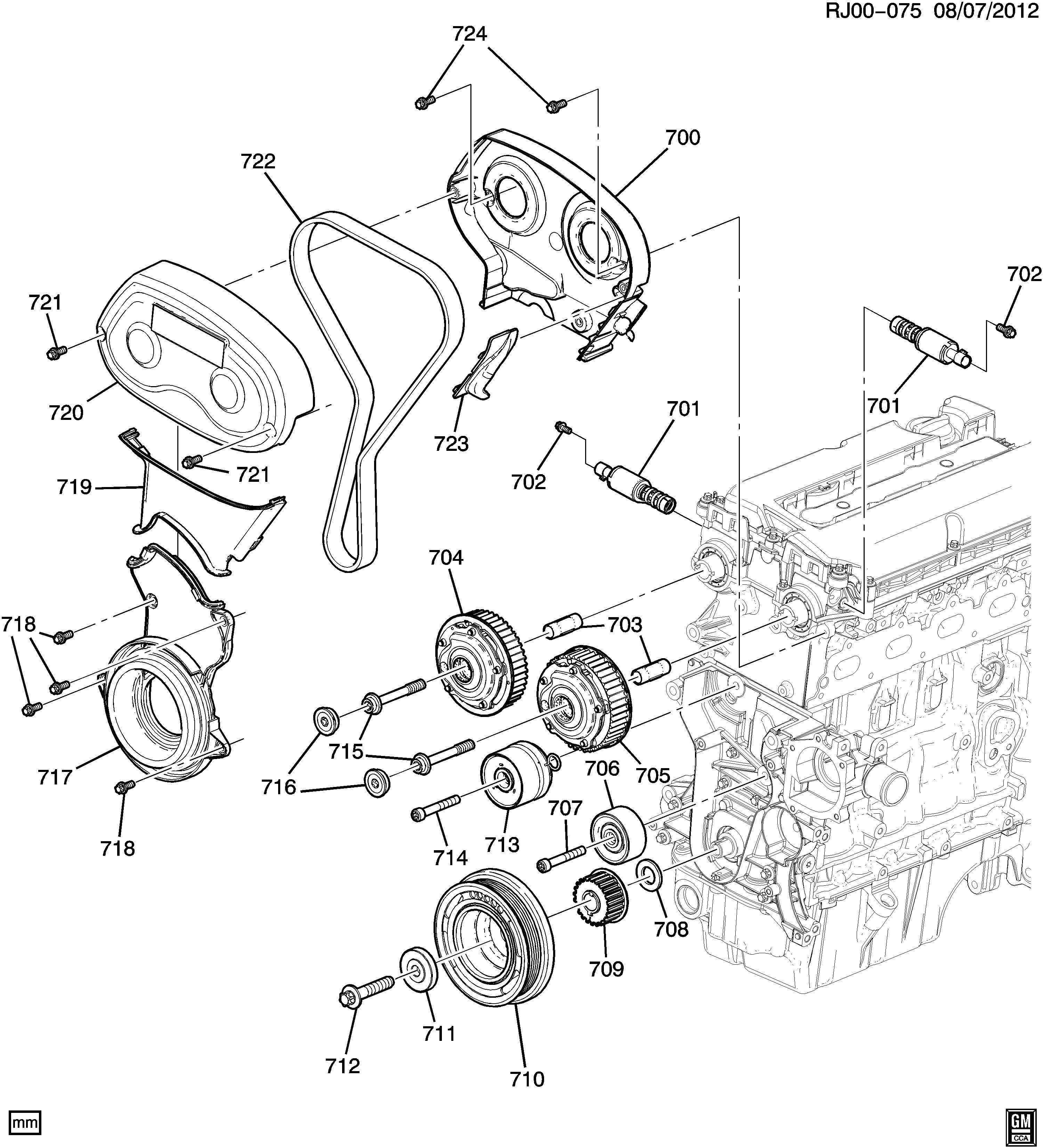 Chevrolet Cruze Bolt Engine Timing Bolt Tmg Belt Tensr