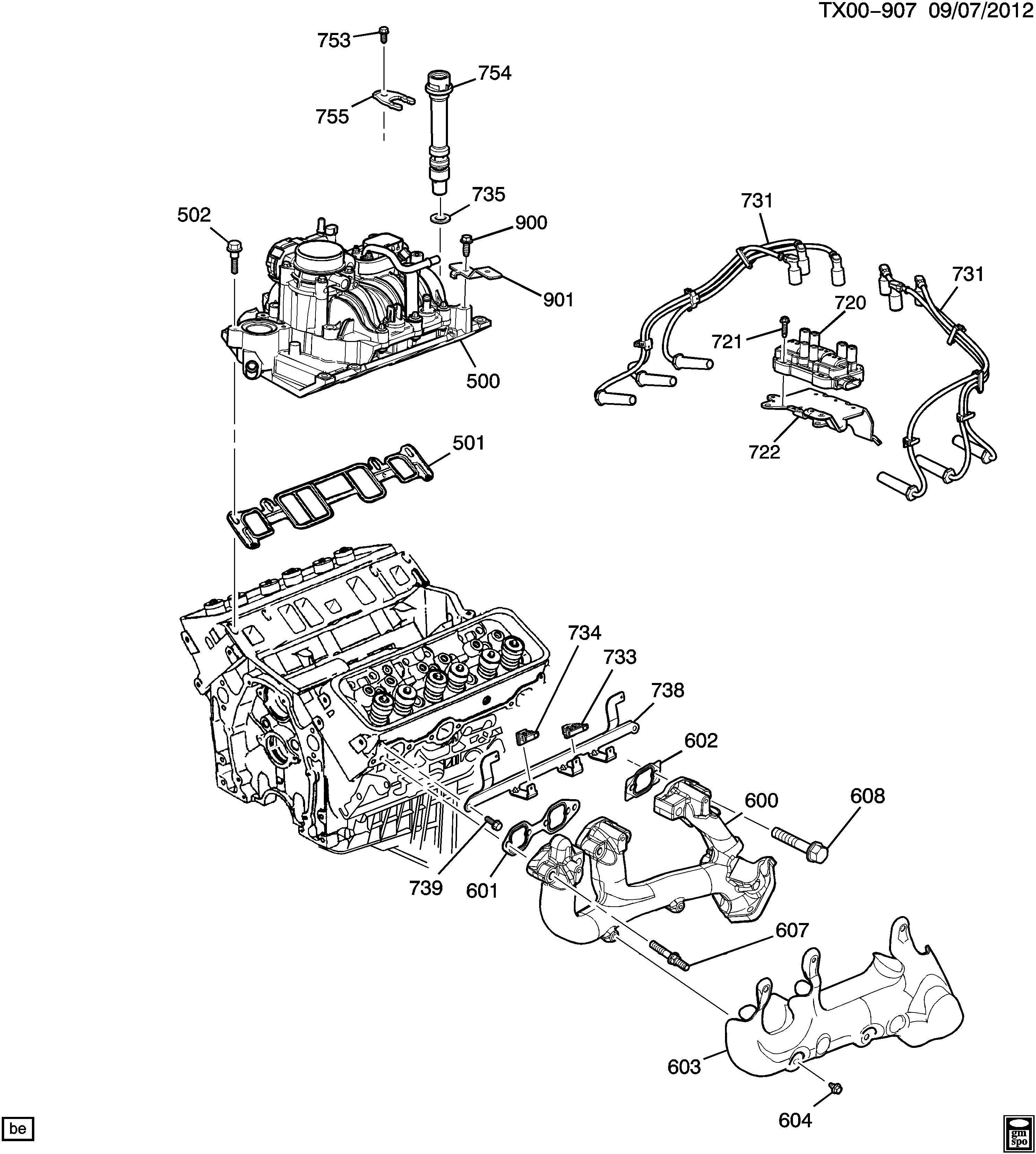 Diagram 4 3l V6 Vortec Engine Parts Diagram