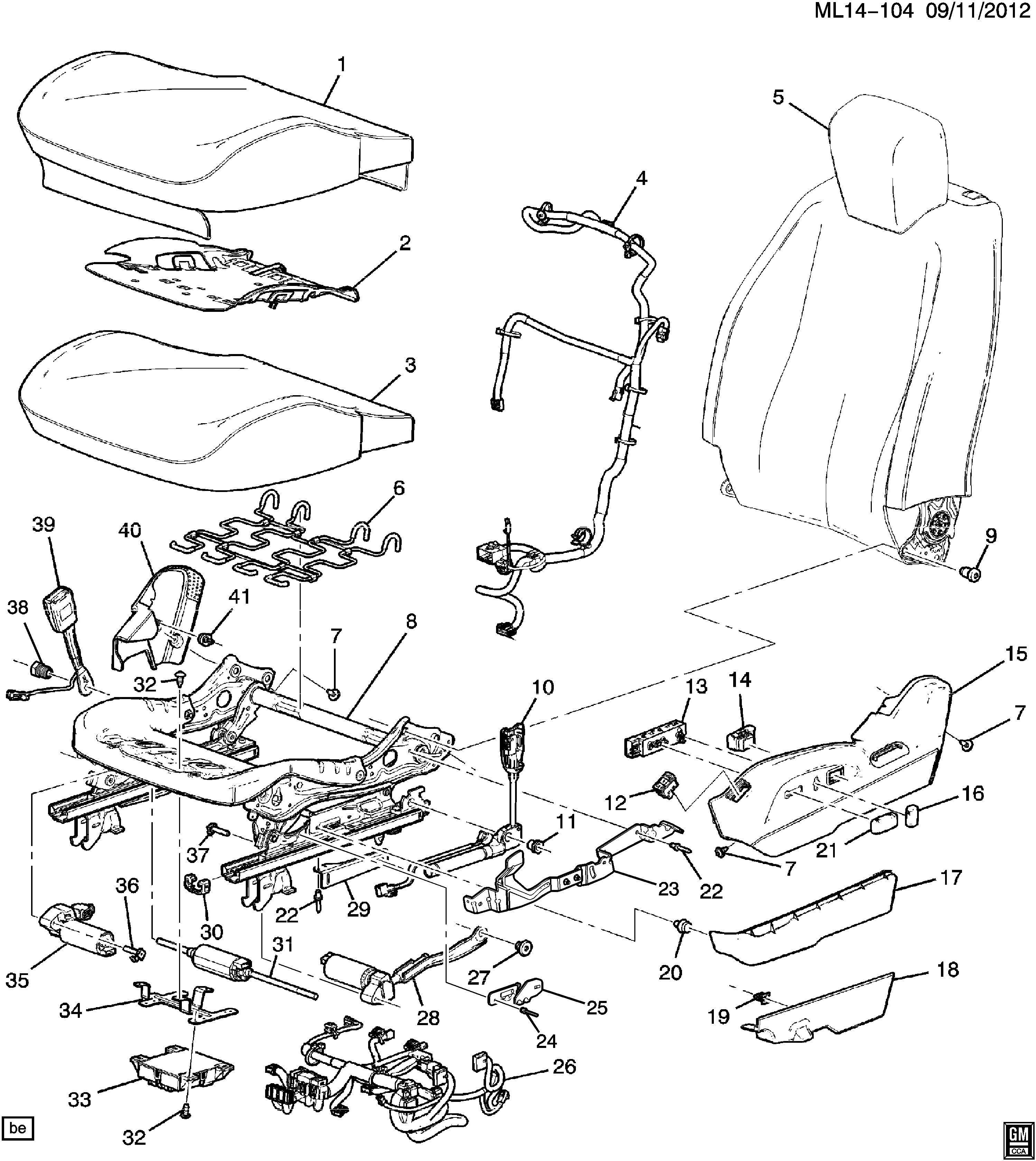 Chevrolet Equinox Module Control Seat