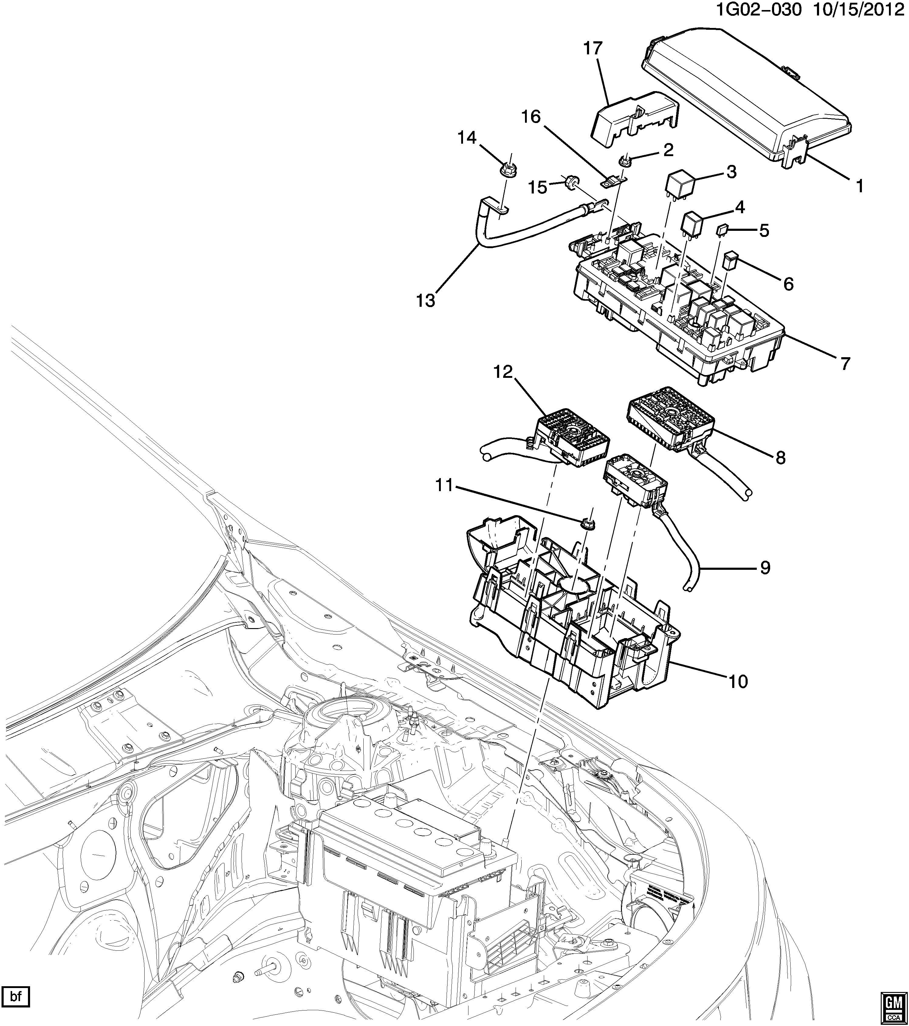 Chevrolet Impala Housing Main Wiring Junction And Fuse