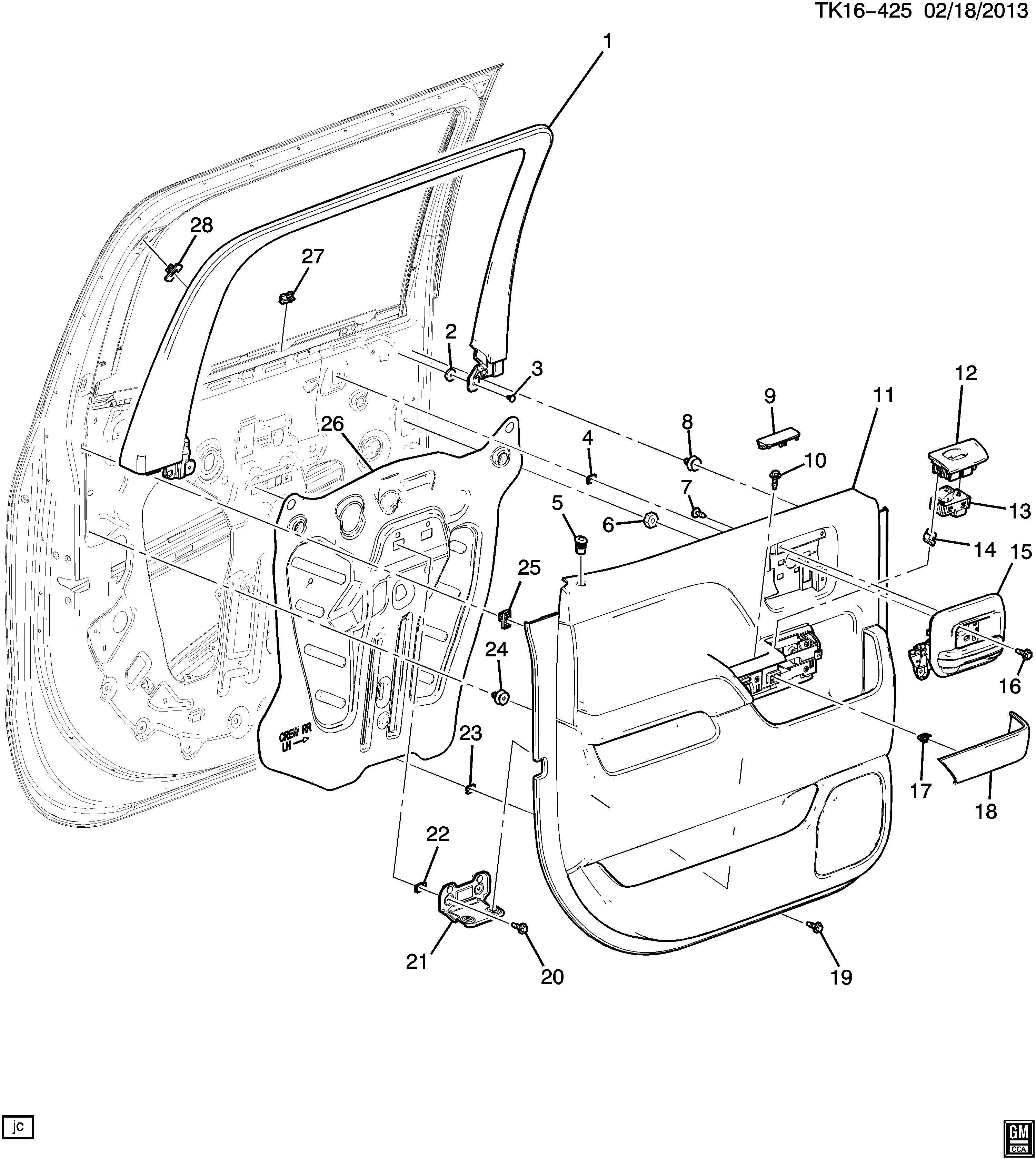 Chevrolet Silverado Trim Armrest Trim Rr S D A Rst Cvr